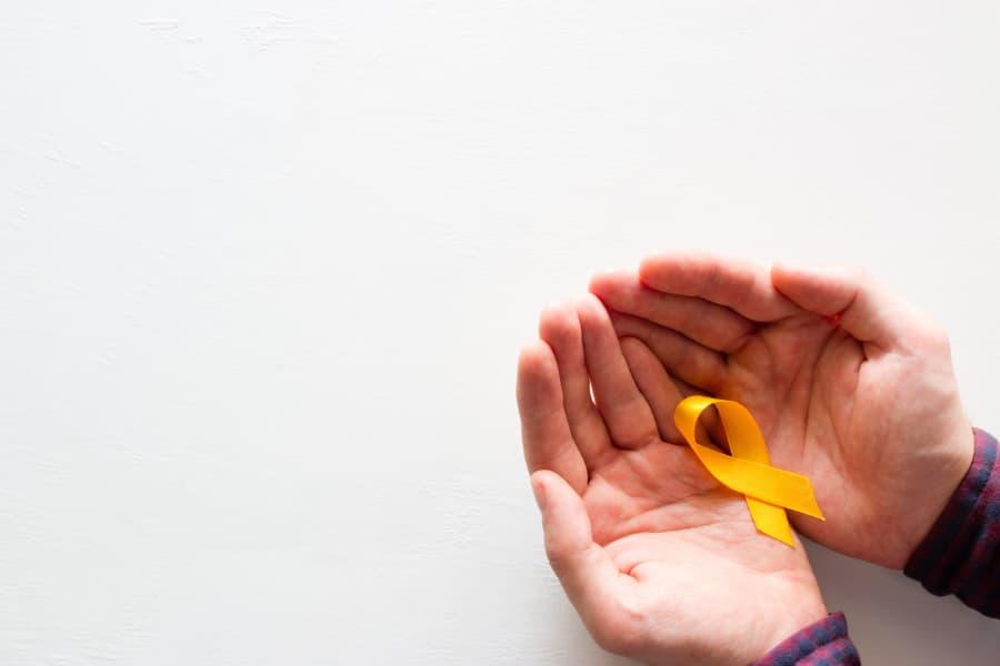 Yellow Ribbon For Sarcoma Cancer