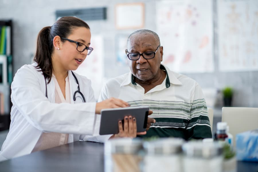 Doctor and patient discuss treatment options